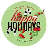 Bonnes fêtes joie de la saison à une et de toutes Photo libre de droits