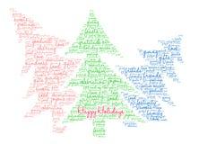 Bonnes fêtes nuage de Word Image libre de droits