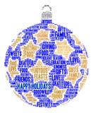 Bonnes fêtes nuage de Word Image stock