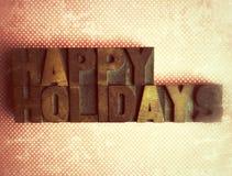 Bonnes fêtes sur des points de polka Photographie stock libre de droits
