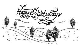 Bonnes fêtes vecteur de calibre Photos stock