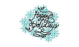 Bonnes fêtes vecteur de calibre Image libre de droits
