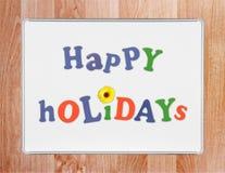 Bonnes fêtes Photo stock