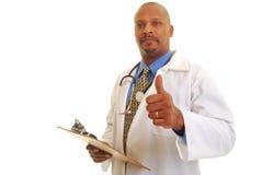 Bonnes nouvelles de docteur photo libre de droits