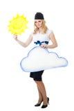Bonnes prévisions météorologiques photographie stock libre de droits