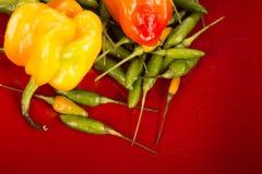 Bonnet en groene Spaanse peperpeper stock fotografie
