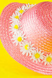 Bonnet with flowers Stock Photography