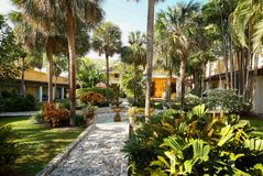 Free Bonnet House Courtyard In Fort Lauderdale, Florida, USA. Royalty Free Stock Image - 115086386