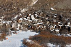 Bonneval Sur Arc. Village Bonneval Sur Arc, Savoy Alps, France Royalty Free Stock Images