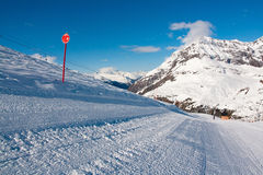 Bonneval Sur Arc. Pistes in ski resort Bonneval Sur Arc, Savoy Alps, France Stock Photography
