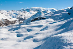 Bonneval Sur Arc. Pistes in ski resort Bonneval Sur Arc, Savoy Alps, France Royalty Free Stock Image