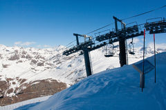 Bonneval Sur Arc. End of a chairlift, Savoy Alps, France Stock Images