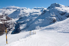 Bonneval Sur Arc. Pistes in ski resort Bonneval Sur Arc, Savoy Alps, France Royalty Free Stock Images