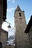 Bonneval Sur Arc. Church in village Bonneval Sur Arc, Savoy Alps, France Stock Photo