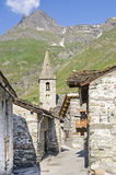 Bonneval-sur-Arc. (Rhone-Alpes, France) - Old village in the French Alps at summer Stock Photography