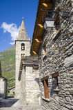 Bonneval-sur-Arc. (Rhone-Alpes, France) - Old village in the French Alps at summer village in the French Alps at summer Royalty Free Stock Photos