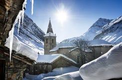 Bonneval-sur-arc en hiver Image libre de droits