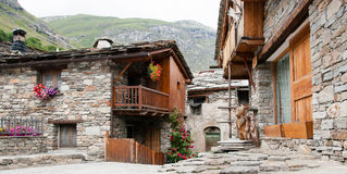 Bonneval sur arc village Stock Photo