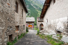Bonneval sur arc village. French alps bonneval sur arc beautifull old village in mountain Stock Photo