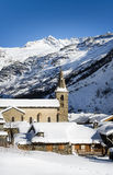Bonneval-sur-Arc in winter Royalty Free Stock Image