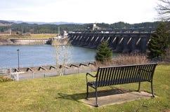 bonneville哥伦比亚水坝峡谷俄勒冈河 库存照片
