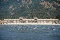 Bonneville水坝,哥伦比亚峡谷 免版税图库摄影