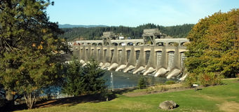 Bonneville Dam. On the Columbia River in Oregon stock photography