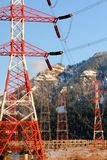 Bonneville Dam Power Line Towers, Pylons Stock Photography