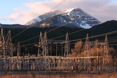 Bonneville Dam Power Line Towers, Pylons Royalty Free Stock Photo