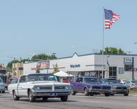 Bonneville, GTO, and Mustang, Woodward Dream Cruise Stock Photography