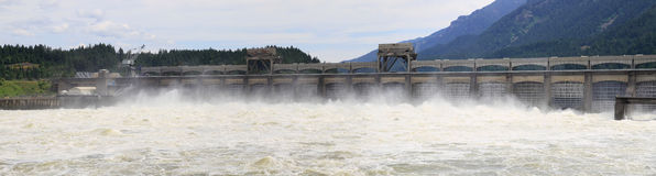 Bonneville Lock and Dam Panorama Stock Photo