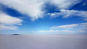 Bonneville salt flats. Blue Sky and white salt in Bonneville salt flats, Utah royalty free stock photos