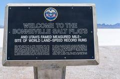 Bonneville Salt Flats historic sign Royalty Free Stock Images