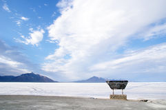 Bonneville Salt Flats International Speedway, USA Royalty Free Stock Photography