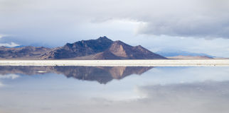 Bonneville Salt Flats reflection Stock Image