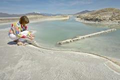 Bonneville Salt flats state of Utah. Stock Image