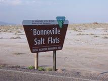 Bonneville salt Flats, Utah, USA Royalty Free Stock Photo