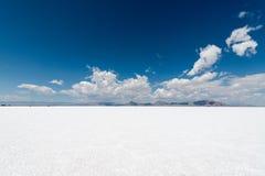 Bonneville Salt Flats. The white open expense of the Bonneville Salt Flats in Utah USA stock images