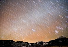Bonneville soli mieszkań Graham szczytu nocnego nieba pasmo górskie obraz royalty free