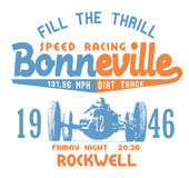 Bonneville speed racing Stock Photography