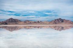 Bonneville Zoute Vlakten, Tooele-Provincie, Utah, Verenigde Staten Royalty-vrije Stock Afbeeldingen