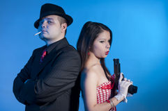 Bonnie and clyde Royalty Free Stock Photo