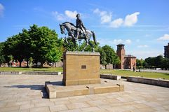 Bonnie Prince Charlie Statue derby arkivfoton