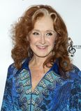 Bonnie Raitt. Blues singer and songwriter Bonnie Raitt arrives for the Little Kids Rock Gala at the PlayStation Theater in New York City on October 18, 2017. The Royalty Free Stock Image