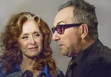 Bonnie Raitt en Elvis Costello Stock Foto