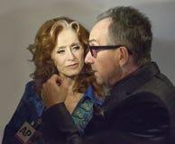 Bonnie Raitt en Elvis Costello Stock Fotografie