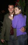 Bonnie Somerville en Bradley Cooper stock fotografie