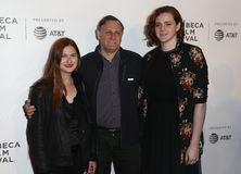 Bonnie Wright, Craig Hatkoff, Isabella Hatkoff stock foto's
