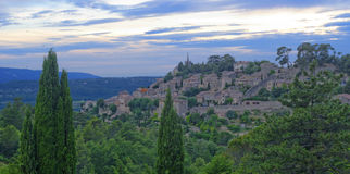 Bonnieux村庄在普罗旺斯 库存照片