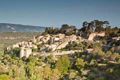 Bonnieux. Sunrise over the hill top village of Bonnieux in Provence Royalty Free Stock Photography